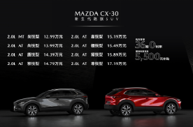 售价12.99万起 新生代跑旅SUV马自达CX-30火辣出道