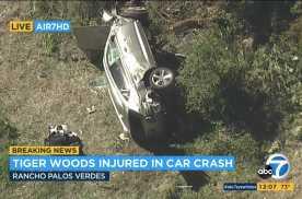 车体保护到位,没有伤及生命,泰格·伍兹驾驶捷尼赛思遇车祸
