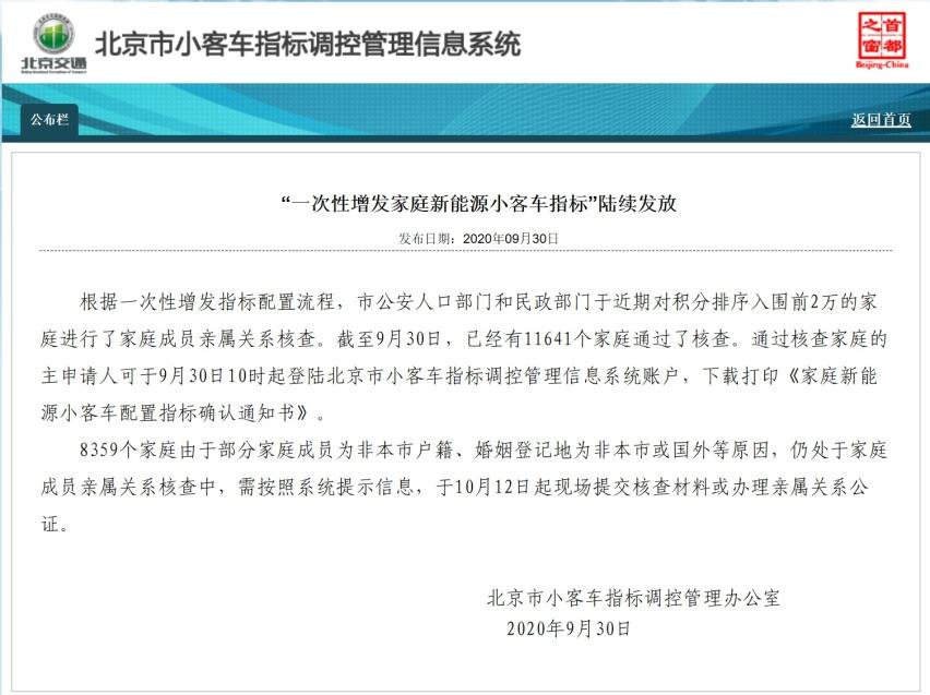 北京增发新能源指标,10亿BEIJING新能源消费券到账-爱卡汽车爱咖号