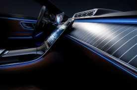 木饰/真皮/氛围灯,设计灵感取自游艇,全新奔驰S级内饰发布