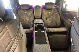 超豪华奔驰迈巴赫S450加长版五座改四座,甩马云迈巴赫几条街