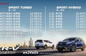 16.98万元起售 新款东风本田CR-V正式上市