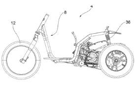 三轮摩托专业户 比亚乔再发新专利 首款正三轮亮相
