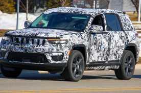 全新Jeep大切诺基5座版谍照曝光,细节有所调整,车身短一些