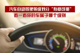 """汽车自动驾驶等级划分""""有章可循"""",看一看你的车属于哪个级别"""