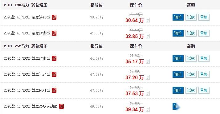 奥迪Q5L售价已跌至30.64万,9月卖了1.8万辆