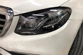 让你的大灯更明亮 奔驰E200升级几何多光束大灯 改装前效果