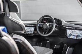 保时捷Renndienst概念MPV内饰官图发布,采用中置驾驶位布局