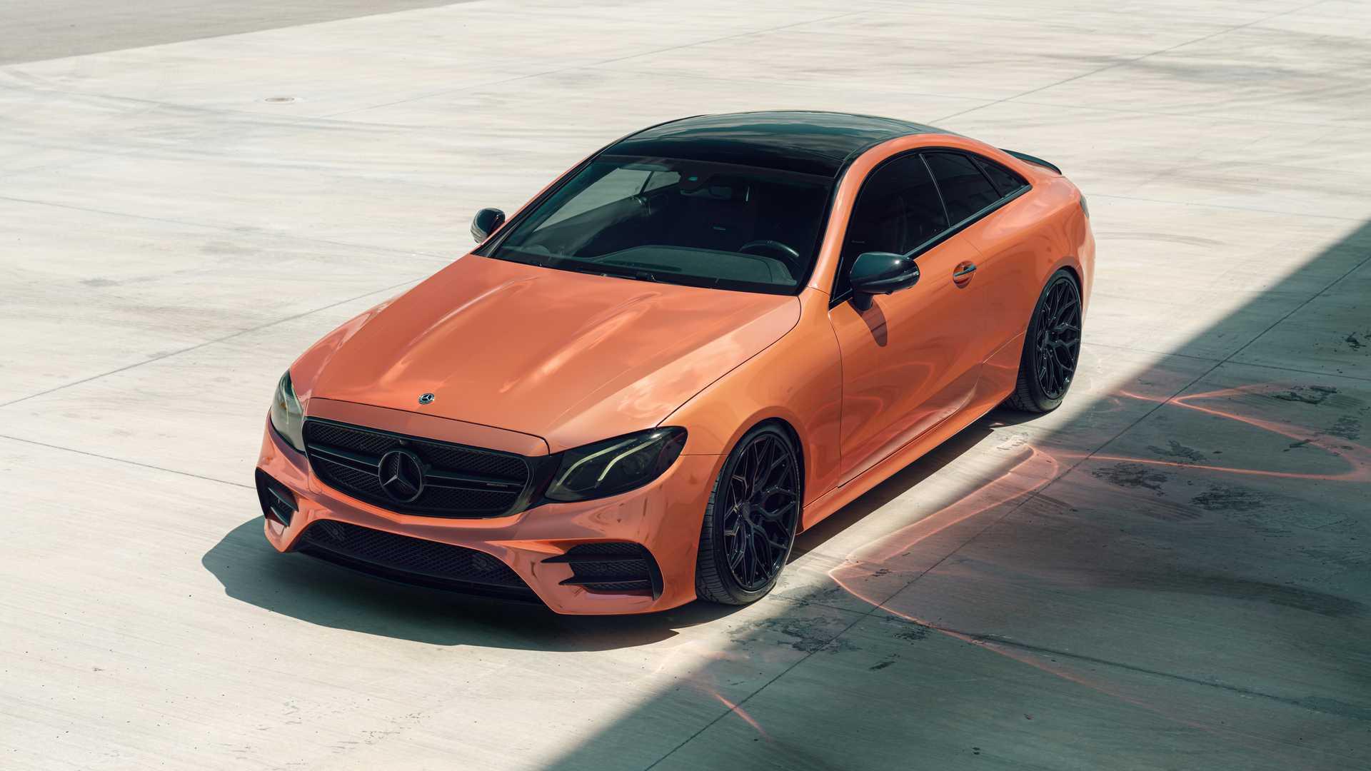 铜色车身配黑圈,百公里加速4.5s,老款奔驰E53美式改装版