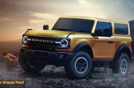 硬汉造型配可拆车顶,双门/四门可选,福特Bronco渲染图