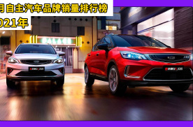 2021年1月自主汽车品牌销量排行榜,吉利品牌位居第一