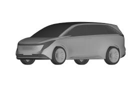 恒驰4专利图曝光,是一款MPV车型,外观饱满、风格前卫
