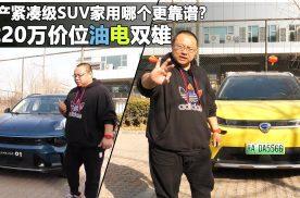20万价位国产SUV该怎么选,领克01埃安V油电大战