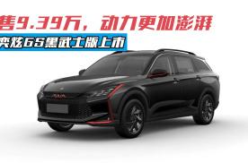 奕炫GS黑武士版上市,售9.39万,动力更加澎湃