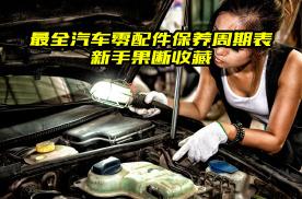 汽车各零配件保养周期,太全了,新手果断收藏