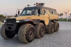 战斗民族打造的硬派越野车,8轮驱动水陆两栖,真正全能大块头
