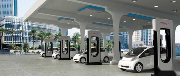 新能源汽车充电示意图