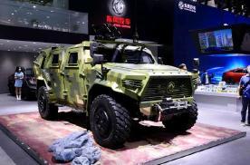 """北京车展,东风放出""""巨兽"""",直接把4吨的军用猛士摆上了台"""