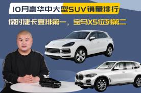 十月豪华中大型SUV销量:保时捷卡宴排第一,宝马X5位列第二