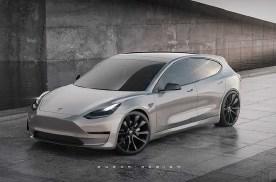 特斯拉Model 3旅行版假想图曝光,造型是亮点