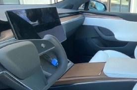 特斯拉新Model S实车图曝光 配备矩形方向盘