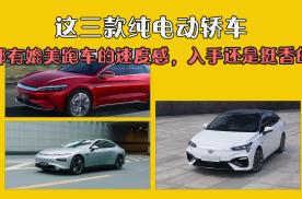 这三款纯电动轿车,都有媲美跑车的速度感,入手还是挺香的