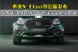 全车碳纤维加持!奔驰X-Class特别版发布,复古绿涂装超级