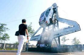 雪佛兰SUV陆上飞行秀,美式硬核特技!场地实拍,带你起飞