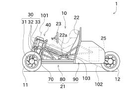 川崎倒三轮新专利曝光 采用双座布局 方向盘转向可倾斜转弯