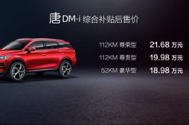 上市价18.98万起,唐 DM-i正式迈入20万级SUV市场