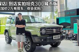 探店  实拍坦克300城市版,若加价2万有现车,考虑不?