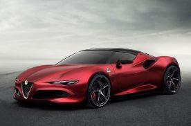 阿尔法罗密欧超级跑车渲染图曝光,风格很像法拉利