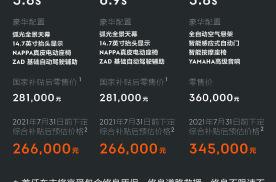 28.1万-36万元,极氪001发布