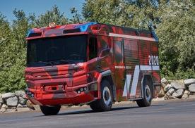 沃尔沃电动消防车即将进行实测,并搭载柴油备用动力