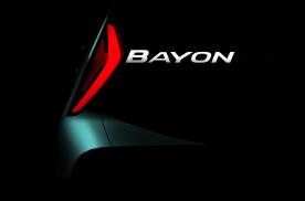 现代全新小型SUV Bayon预告图曝光,2021年发布
