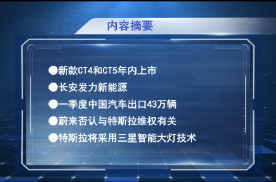 车闻早八点:新款CT4/CT5年内上市,特斯拉将采用三星智能