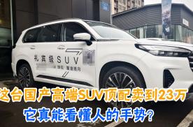 这台国产高端SUV顶配卖到23万,它真能看懂人的手势?