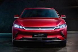 比亚迪汉首次公布后排内饰官图,新车或将第三季度上市。