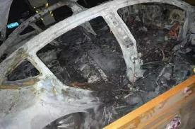 特斯拉MODEL 3车库起火爆炸,整车只剩车架
