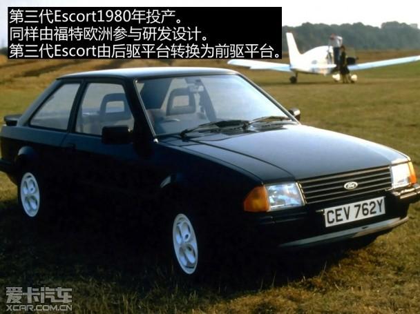 第三代福特escort,1980-1986.