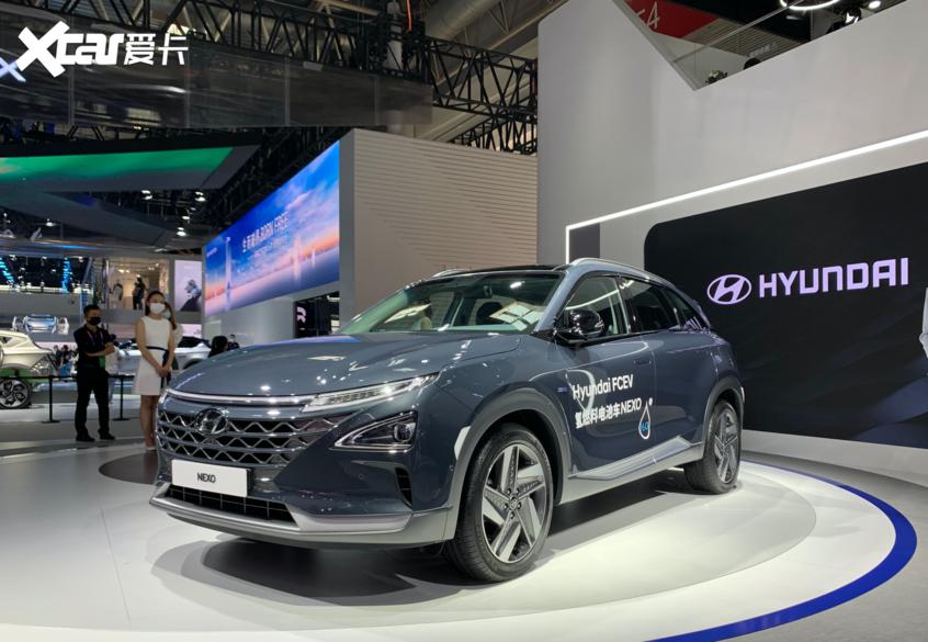 北京国际车展 现代氢燃料电车NEXO亮相