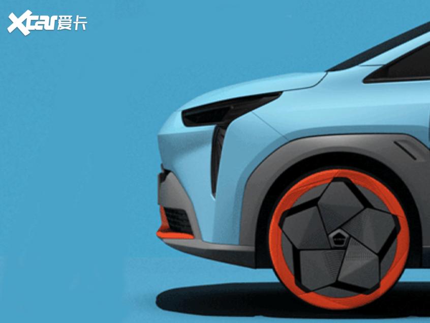 曝广汽新能源埃安新车预告图 车展首发